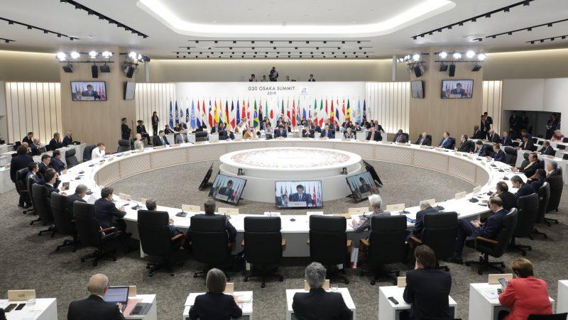 Líderes do G-20 reconhecem demora em lidar com a pandemia de Covid-19 – Foto: G20 Japan/Reprodução/ND
