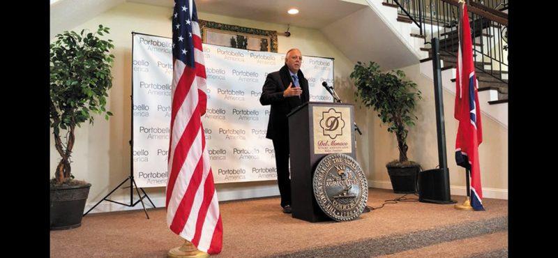 Cesar Gomes Junior, Presidente da Portobello, durante o lançamento da Portobello America, em Baxter, Tennessee, EUA – Divulgação Portobello