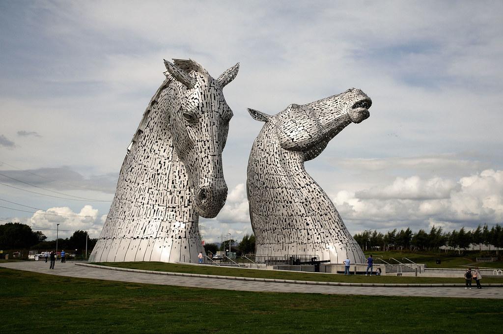 The Kelpies' em Falkirk, Escócia - chris_m03 on Visual hunt / CC BY-NC-SA - chris_m03 on Visual hunt / CC BY-NC-SA/Rota de Férias/ND