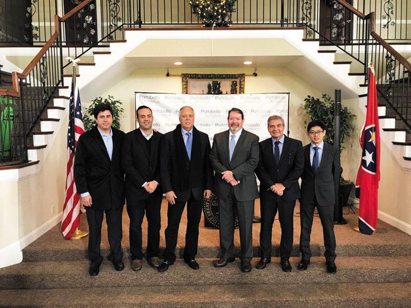 Diretoria da Portobello durante o comunicado oficial de lançamento da Portobello America no Tennessee, EUA – Divulgação Portobello