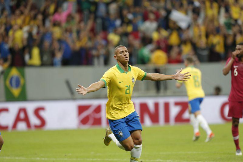 Richarlison, atacante da seleção brasileira, marca gols também fora de campo. Foto: Dida Sampaio/Estadão Conteúdo/ND