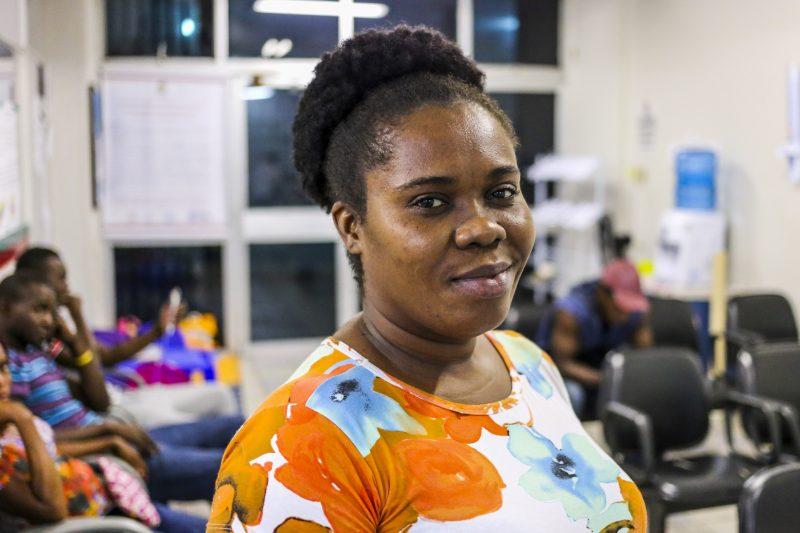 Caline Cesar é haitiana e contou com a ajuda do Crai para emitir documentos – Anderson Coelho/ND