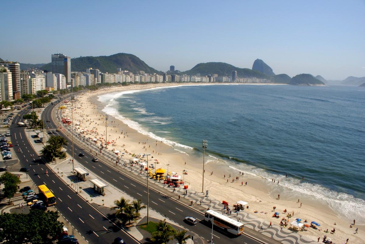 A praia de Copacabana é conhecida mundialmente por sua beleza - Ricardo Zerrener/Riotur - Ricardo Zerrener/Riotur/Rota de Férias/ND