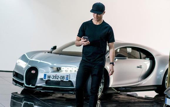 Cristiano Ronaldo - Bugatti Chiron - Foto: Reprodução/Instagram - Foto: Reprodução/Instagram/Garagem 360/ND