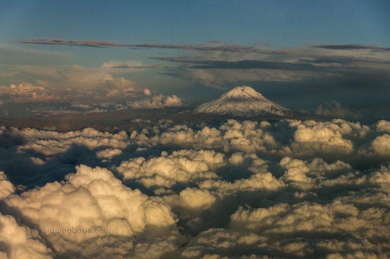 Piloto de avião faz fotos incríveis no ar e posta no Instagram. Confira: - Foto: Santiago Borja/Reprodução/33Giga/ND
