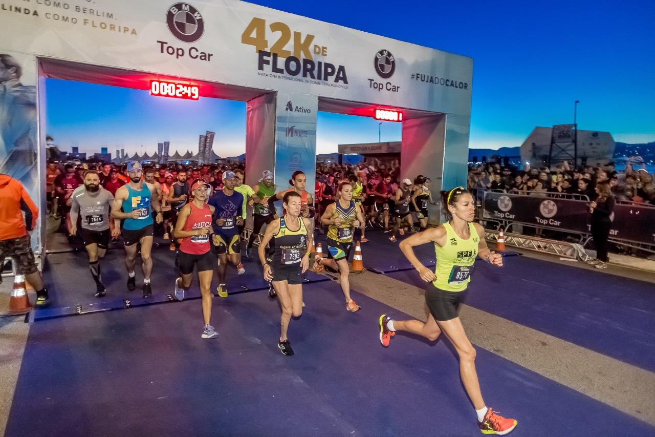 Largada da 42k - Maratona de Florianópolis 2019 - Daniel Wenerck/divulgação/ND