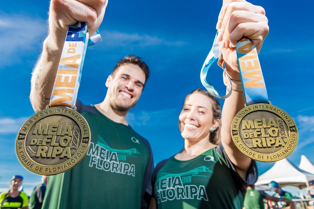 Maratona de Florianópolis reuniu mais de 12 mil atletas - Daniel Werneck/divulgação/ND