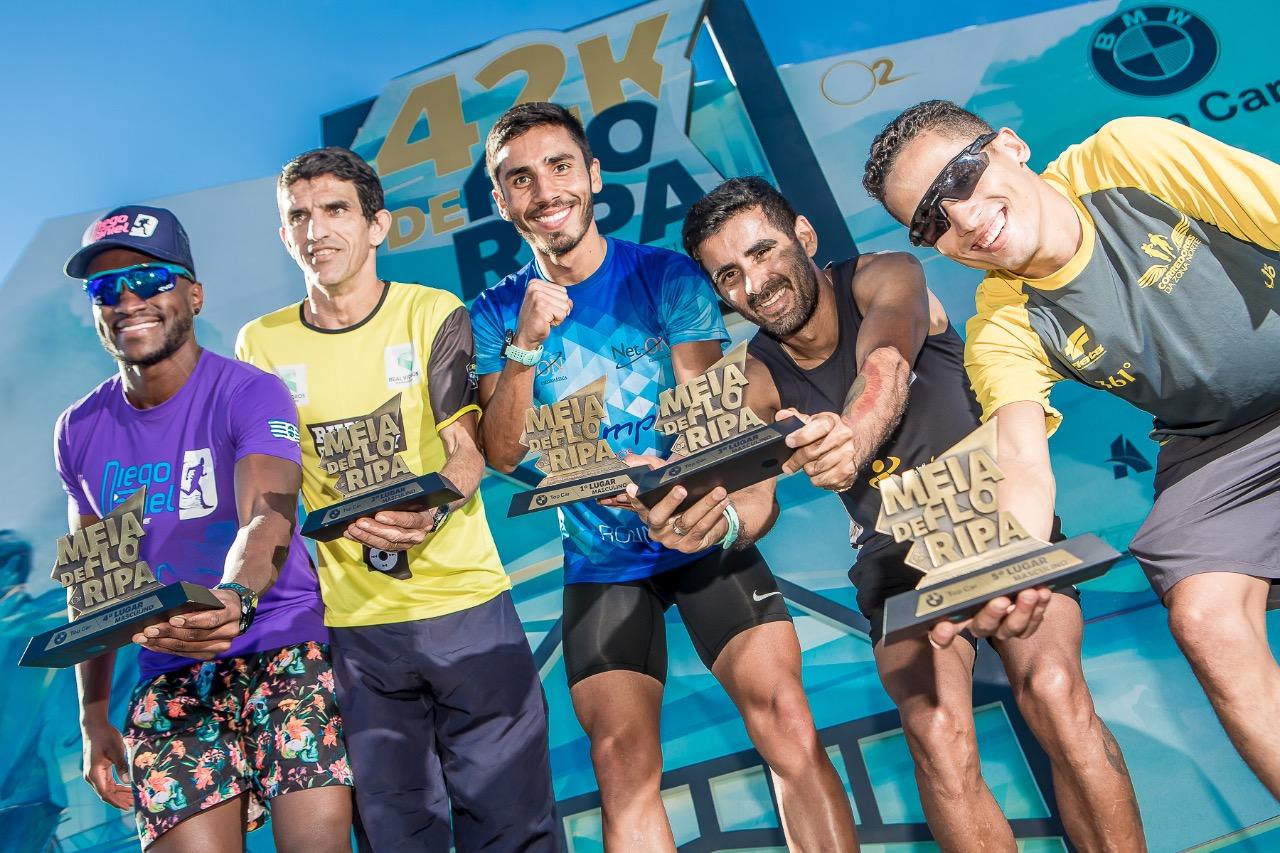 Atletas comemoram em mais uma edição da 42k - Maratona Internacional de Florianópolis - Daniel Werneck/divulgação/nd