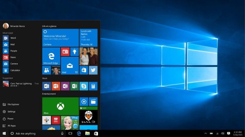 Windows 10 – Julho de 2015: Aqui, o Menu Iniciar volta como era e os apps disponíveis na Loja do Windows deixam de ser obrigatoriamente rodados em tela cheia. Esse sistema aposentou o Internet Explorer e trouxe um novo navegador, o Microsoft Edge. Também foi acrescentada uma Barra de Ferramentas intuitiva para pesquisar arquivos dentro do Windows e na web em geral. - Crédito: Divulgação/33Giga/ND