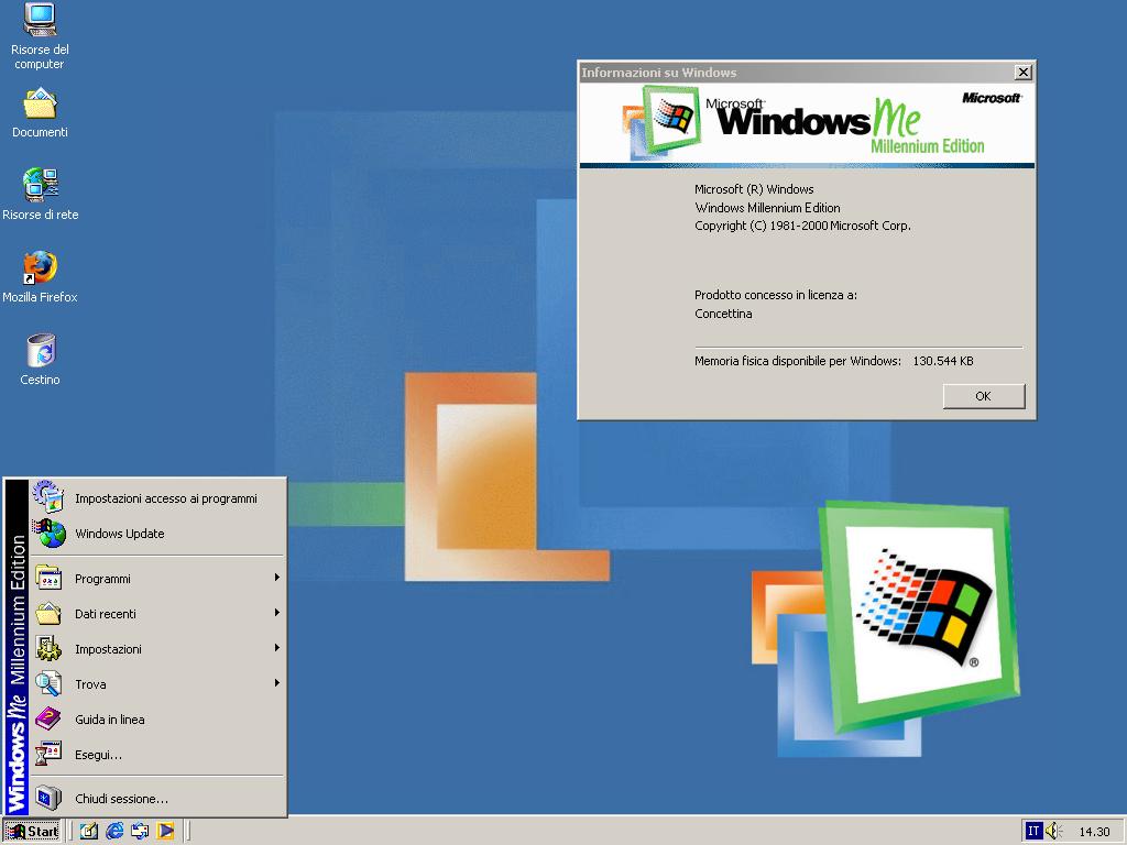 Windows ME – Setembro de 2000: O Windows Me trouxe a função de restaurar o sistema, que permite voltar toda a configuração para uma data ou hora antes que um problema tenha ocorrido. Entre os programas novos estão: Windows Movie Maker e Windows Media Player. Vale lembrar que esse foi o último sistema operacional da Microsoft baseado no código do Windows 95. - Crédito: Reprodução Internet/33Giga/ND