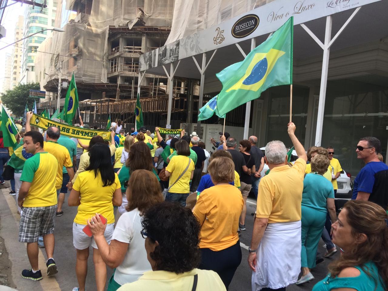 Manifestação em Balneário Camboriú - RICTV