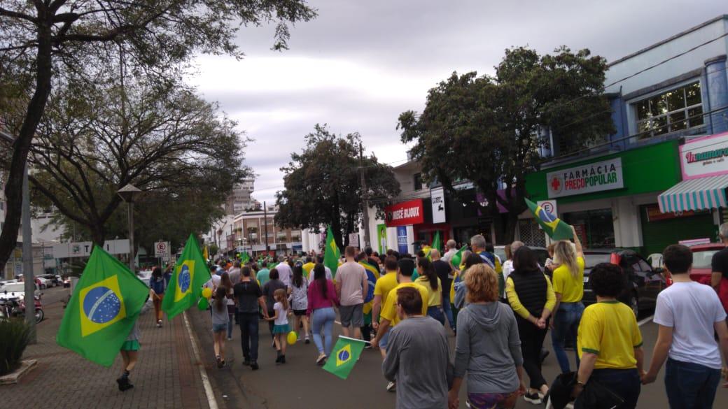 Manifestação em Chapecó - RICTV