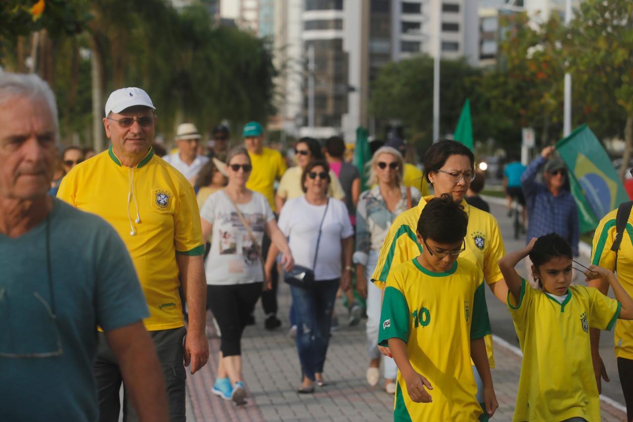 Manifestação em Florianópolis - Flávio Tin/ND