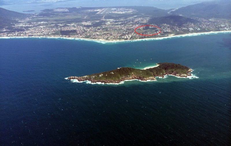 Foto panorâmica do Campeche realizada pelo piloto Hiram Garcia - Acervo Amab/Divulgação