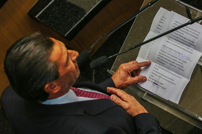 Julio Garcia leu discurso - Fábio Queiroz/Agência AL/ND