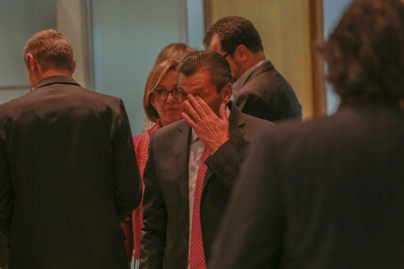 Julio Garcia se dirige à sala de imprensa - Fábio Queiroz/Agência AL/ND