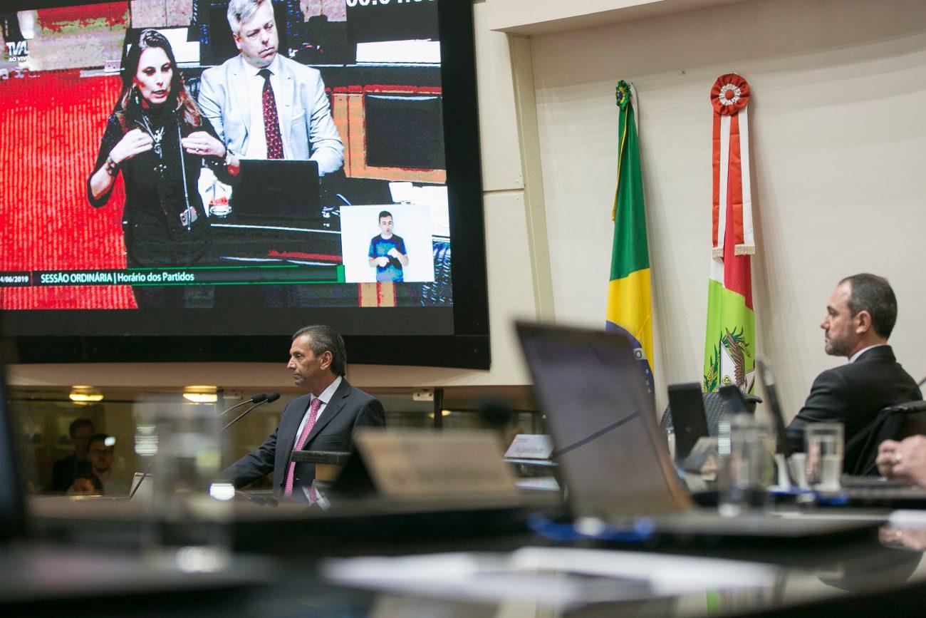 Paulinha em destaque no telão - Rodolfo Espínola/Agência AL/ND
