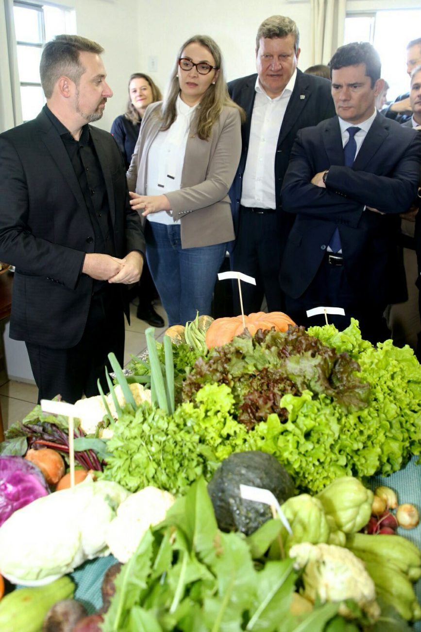 Sergio Moro em Chapecó - James Tavares/Secom/ND