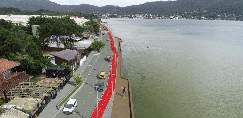 Propostas para ciclovias na avenida das Rendeiras, na Lagoa, e na avenida Madre Benvenuta estão na reta final na reta final de avaliação com as comunidades – Divulgação/ND
