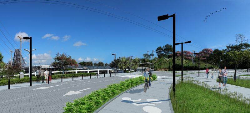 Prioridade no uso da ponte Hercílio Luz será para o uso por transporte coletivo, pedestres e ciclistas – Divulgação/ND