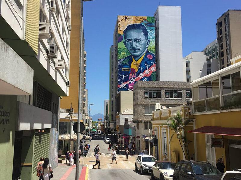 Mural Franklin Cascaes - Divulgação PMF