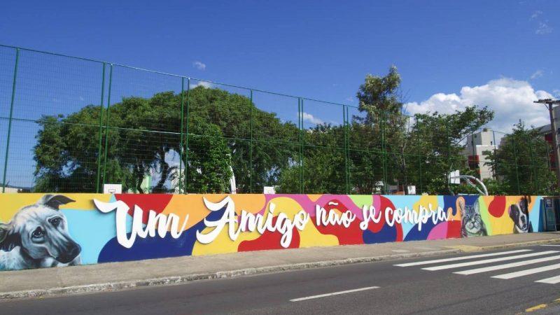 Muro Colégio Coqueiros - Divulgação ND