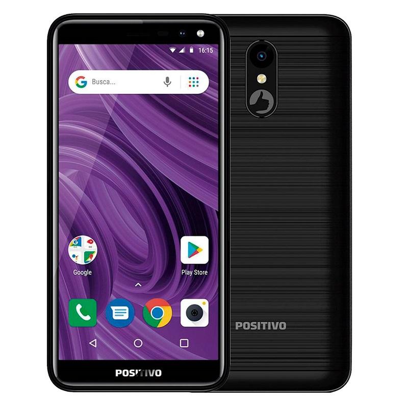 Positivo Twist 2 Pro – Com tela de 5,7 polegadas, é ideal para os namorados que procuram um celular cumpridor para as tarefas do dia a dia. Tem 1 GB de memória RAM, 64 GB de armazenamento e processador Quad-Core de 1.3 GHZ. As câmeras frontal e traseira têm 8 megapixels. Está disponível nas cores preto, dourado e aurora. Preço sugerido: R$ 599. - Crédito: Divulgação /33Giga/ND