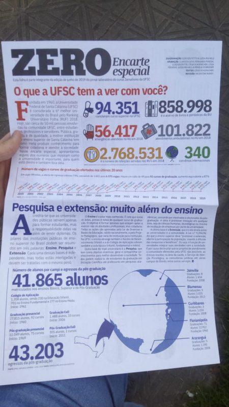 Estudantes de Jornalismo preparam um documentar para mostrar a importância da Universidade Pública - Felipe Bottamedi / ND