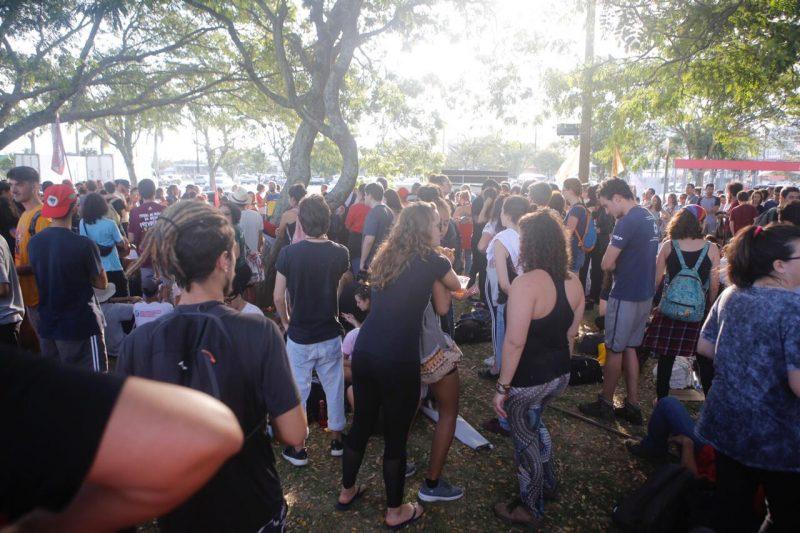 Manifestantes concentrados na Região Central da Capital - protesto 2
