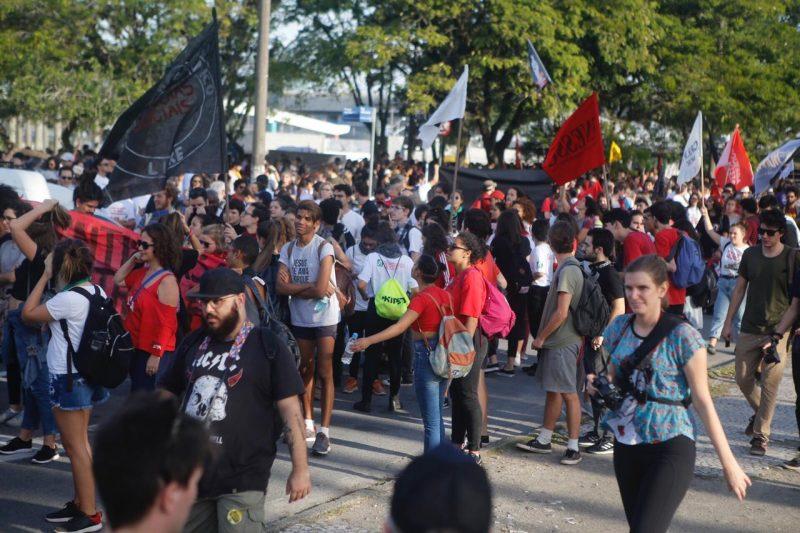 Manifestantes concentrados na Região Central da Capital - protesto 3