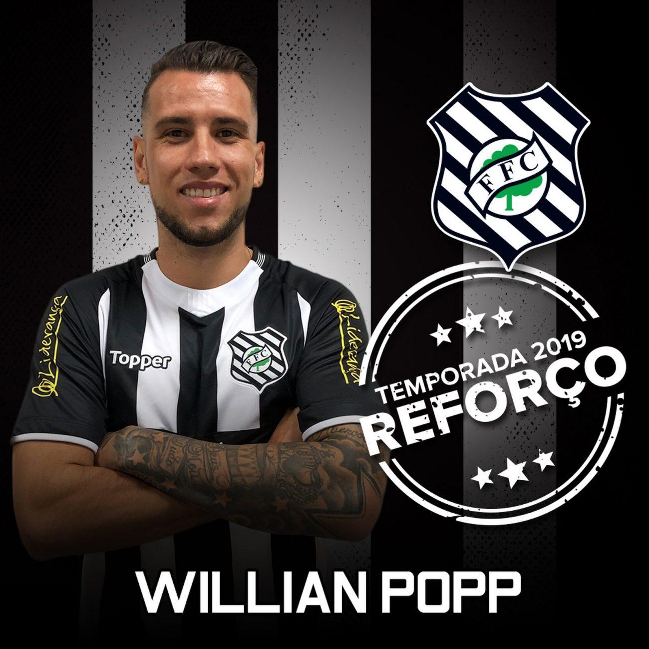 Willian Popp, atacante do Figueirense contratado em 2019 - Figueirense FC/divulgação