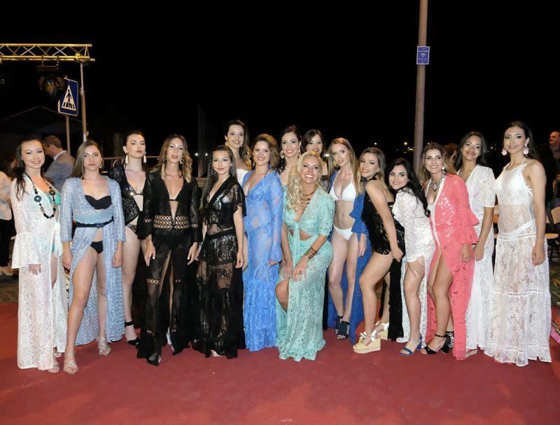 Rafaela Linhares entre as modelos portuguesas que desfilaram sua grife nos Açores – Divulgação/ND