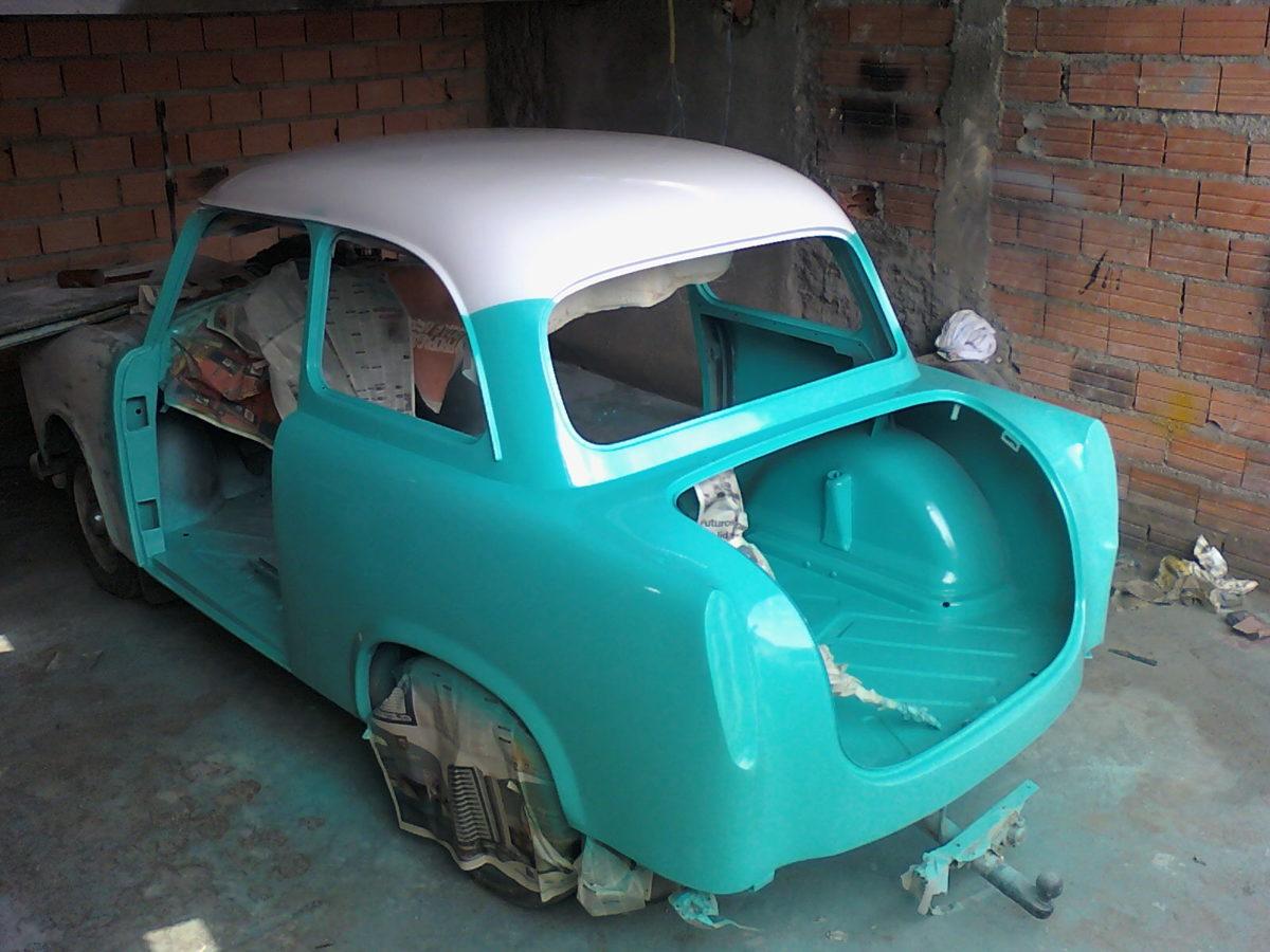 Processo de restauração dos Trabants - Foto: Divulgação/Arquivo Pessoal - Foto: Divulgação/Arquivo Pessoal/Garagem 360/ND