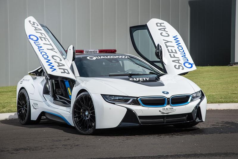 Na Fórmula E, o BMW i8 sempre foi o safety car oficial da categoria - Foto: Divulgação - Foto: Divulgação/Garagem 360/ND
