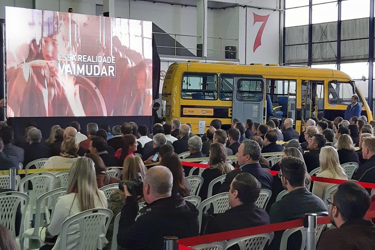 Vídeo institucional mostrou a dificuldade vivida pelas crianças de Campo Belo do Sul no transporte à escola - Altair Magagnin/ND