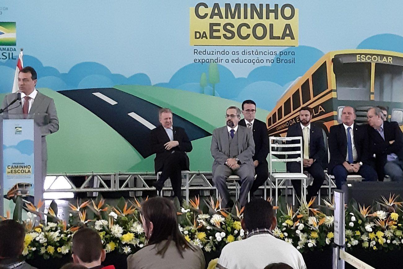 Governador de SC, Carlos Moisés, discursa - Altair Magagnin/ND
