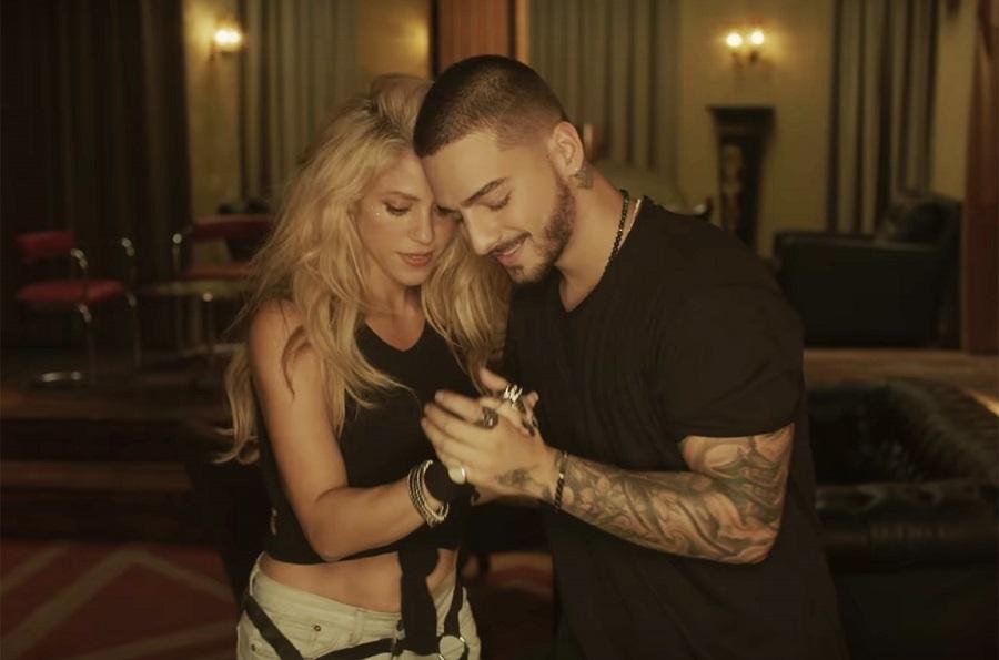"20. Shakira feat. Maluma – Chantaje (<a href=""http://bit.ly/2VPOeti"">http://bit.ly/2VPOeti</a>): 2,33 bilhões de visualizações - Crédito: Reprodução YouTube/33Giga/ND"