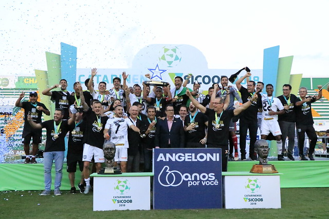 8/4/2018: Figueirense beats Chapecoense 2-0 at Arena Condá, in Chapecó, and wins the Santa Catarina Championship. - LUIZ HENRIQUE / FFC