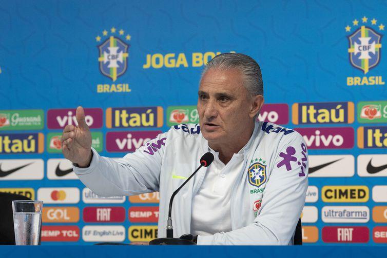 """Técnico Tite estaria sendo """"fritado"""" na Seleção Brasileira. – Foto: Lucas Figueiredo/CBF"""