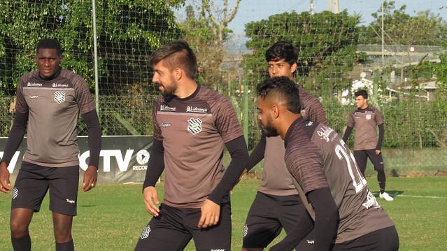 Grupo do Figueirense encerrou a preparação para o duelo contra o Brusque – FFC/divulgação