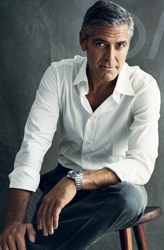 George Clooney, ícone masculino. Homens e mulheres envelhecem de forma diferente, tanto na anatomia, como na aceitação social – Divulgação/ND