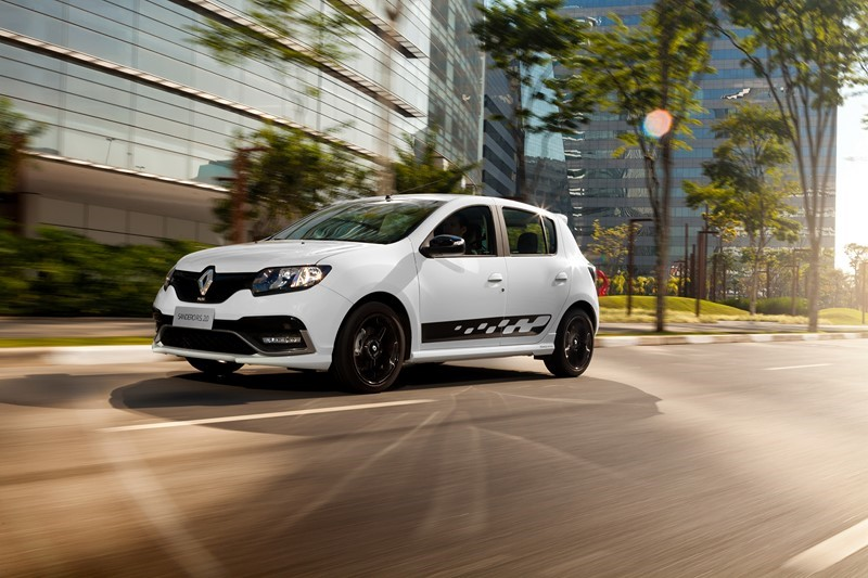 9- Renault Sandero: carros expostos: 159.639,16; sinistros: 1.258; índice de roubos/furtos: 0,788% - Foto: Divulgação - Foto: Divulgação/Garagem 360/ND
