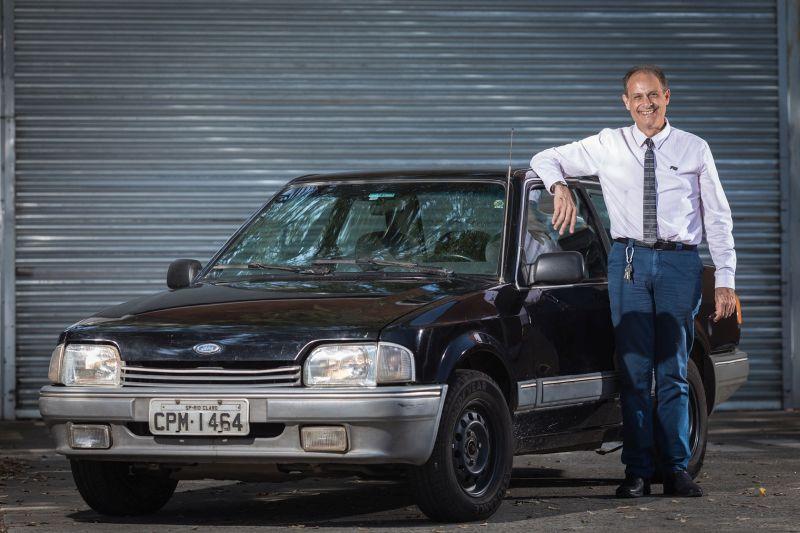 Creso Peixoto e o Ford Verona 1990 - Foto: Divulgação - Foto: Divulgação/Garagem 360/ND