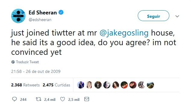 Ed Sheeran – 26 de outubro de 2009: