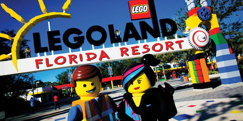 A cerca de uma hora de Orlando está o Legoland Florida, voltado para crianças entre 2 e 12 anos. Os blocos coloridos dão o tom de todas as atrações do complexo, até mesmo das divertidas montanhas-russas - Divulgação - Divulgação/Rota de Férias/ND