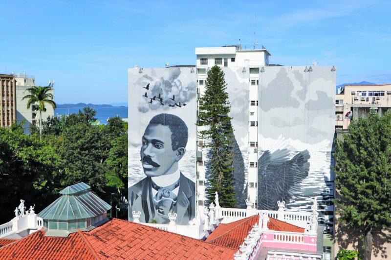A pintura é parte do Street Art Tour, projeto que está movimentando a cena de arte urbana na Capital – Cristiano Andujar/Divulgação/ND