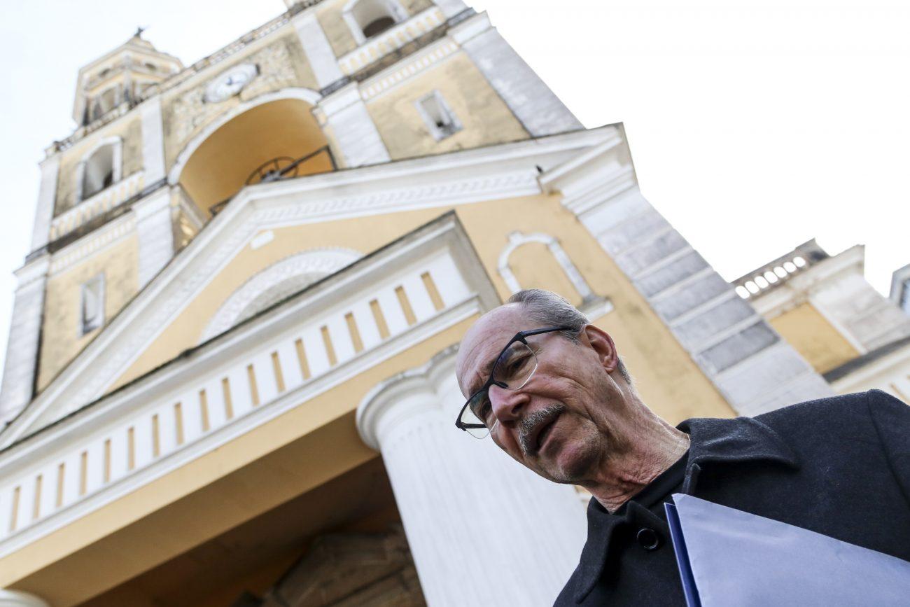 Roberto Bentes de Sá, presidente da comissão de restauro da Catedral fala sobre o impasse para finalizar a obra - Anderson Coelho/ND