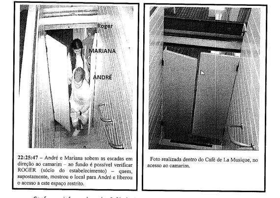 Polícia identifica Roger na imagem das escadarias do camarim – Reprodução/ND