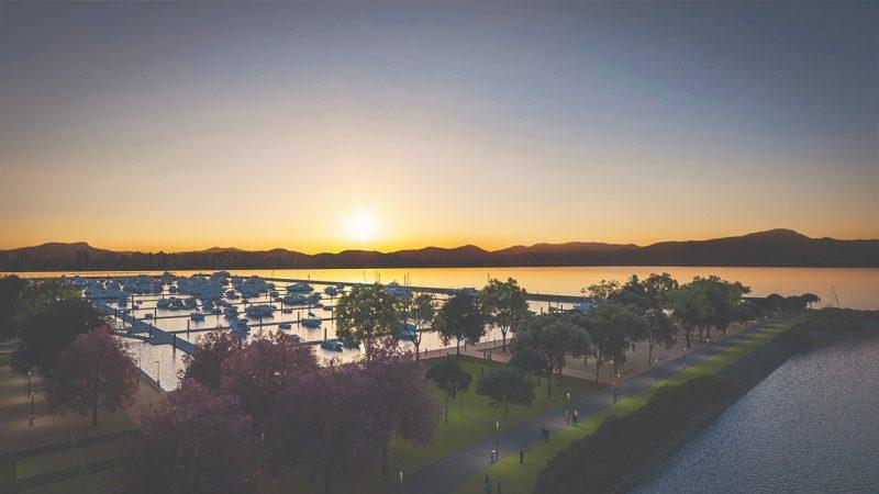Projeto prevê um parque urbano de 123 mil metros quadrados e marina privada para 624 embarcações – Foto: Divulgação/ND