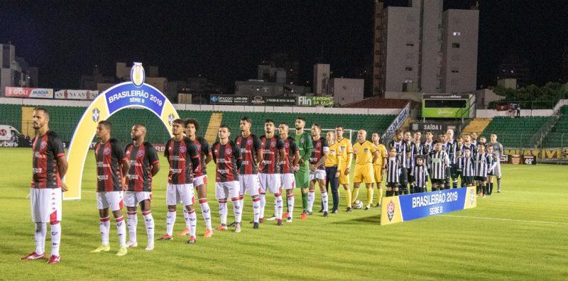 Figueirense e Vitória, em jogo válido pela 13ª rodada da Série B – Matheus Dias/FFC